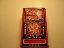 Vintage Advertising Marvel Mystery tin oil can.