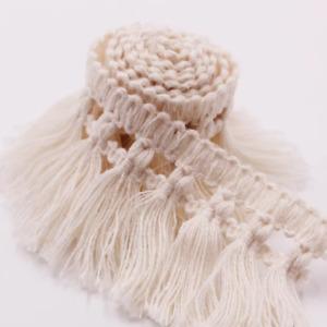 1 Yard Cotton Tassel Crochet Trim Fringe Fabric Garment Table cloth Dress Sewing