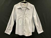 Joie Denim Style Button Up Top Women's Size Medium Blue Collared Long Sleeve