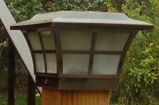 4X4 COPPER ELECTROPLATED PRESTIGE SOLAR POST CAP LED DECK FENCE LIGHT