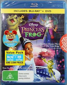 THE PRINCESS AND THE FROG (2010: BLU-RAY + DVD, 2 DISC SET) NEW/SEALED -REGION B