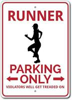 Runner Parking Sign, Runner Gift, Custom Runner Sign, Gift Runner ENSA1002724