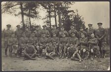 More details for army types - army officers posed for the camera. unlocated & unidentified. rppc