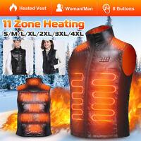 Men Women Electric Heated Vest Jacket USB Heating Coat Winter Warm Thermal Ski