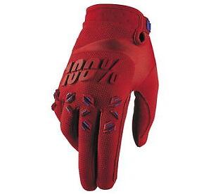 100% Airmatic Gloves Fire Red 2XL 951258  MX Motocross ATV UTV