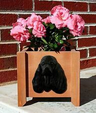 American Cocker Spaniel Planter Flower Pot Black