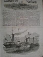 Collision SS Duchess of Kent and SS Ravensbourne Northfleet Point 1852 print AV