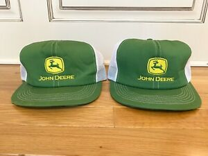 Vintage John Deere Mesh Trucker Hat Snapback Patch K Products - Made in USA