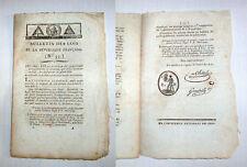 Révolution Française 1793 Bulletin des Lois N°55 scellé - authentic historical