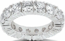 3.03 ct Round Diamond Ring 14k Gold Eternity Band F-G Si1 Size 6 0.15 ct each