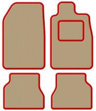 Suzuki Samurai/Santana/SJ 410 Velour Beige/Red Trim Car mat set