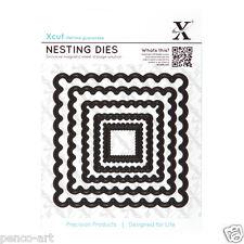 X cut 5 pc nesting dies scalloped squares Use Xcut, sizzix, big shot machines