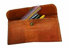Stationery Vintage Leather Pencil Bag Handmade Pen Pouch Fountain Pen Holder