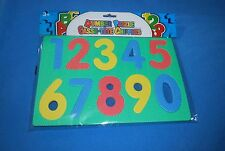 """(NEW) School House Foam Puzzle LARGE NUMBERS 0 to 9 SIZE 3.5 """" x 2"""""""