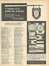 Publicité Advertising 1950 --montre   Guilde des orfèvres Print AD