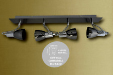 ABAKUS 4 ARM / WAY CEILING LIGHT FITTING GLOSS GUN BLACK  AND CHROME.