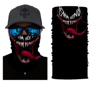 Venom Evil Man Face Balaclava Cycling Tube Snood Biker Face Mask Bandana Gaiter