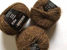 LOT of 3 S. Charles Collezione Ella #02 Teak Brown Wool Silk Mohair Yarn