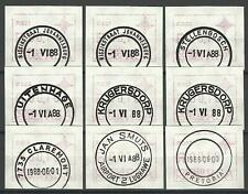 SOUTH AFRICA 1988 ATM LABELS USED