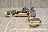 **ECCO Damara Cross Strap Sandals, Women's Size 4M, Blue
