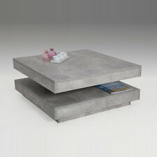 Couchtisch JUAN 4 Beton Optik Nachbildung Beistelltisch Wohnzimmertisch Tisch