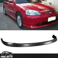 Fit For 01-03 Honda Civic 2Dr 4Dr OE Style Front Bumper Lip Unpainted Black PP