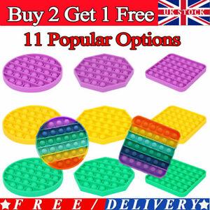 Pop Its Square Fidget Toy Push Bubble Stress Relief Kids Pop It Tiktok 2021 UK