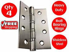 4 X STAINLESS STEEL DOOR HINGES 304 grade 100 x 75 BUTT HINGE BALL BEARING 4BB