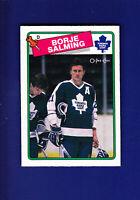 Borje Salming HOF 1988-89 O-PEE-CHEE OPC Hockey #247 (MINT) Toronto Maple Leafs