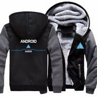 Men's Hoodies Sweatshirt Detroit: Become Human Cosplay Hooded Coat Warm Jacket