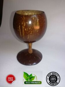 Wine glass Coconut Shell Eco Friendly Handmade Cup Natural Champagne 100 Drink