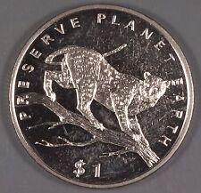 Liberia 1995 Leopard $1 Coin
