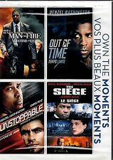 NEW 4DVD SET //DENZEL WASHINGTON  MANon FIRE + OUT OF TIME + UNSTOPPABLE+SEIGE