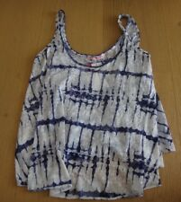 SUPRE BLUE & WHITE TIE-DYE TANK SZ. S BRAND NEW WITH TAGS