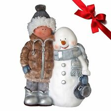 Schneemann Frosty Dekofigur Weihnachtsdekoration Nikolausfiguren Dekoration
