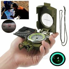 Professional Military Pocket Metal Sighting Compass Clinometer Hiking Camping US