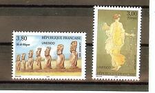 TIMBRES DE SERVICES UNESCO YVERT N° 118 à 19 NEUF **