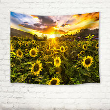 Sunflower and sun Tapestry Wall Hanging for Living Room Bedroom Dorm Decor