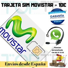 Sim card/micro/nano prepaid movistar 10 € up. new number!