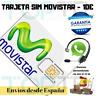 Tarjeta SIM/Micro/Nano de Prepago MOVISTAR 10€ de Saldo. NÚMERO NUEVO !
