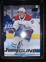 2019-20 Upper Deck #209 Cale Fleury 🔥🔥 Young Guns YG Rookie RC