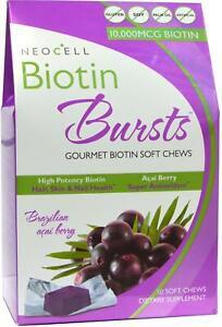 Biotin Bursts by Neocell Laboratories, 30 chews Acai Berry