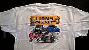 LIONS DRAG STRIP 15th Reunion Drag Racing T Shirt Long Beach Willys Mopar