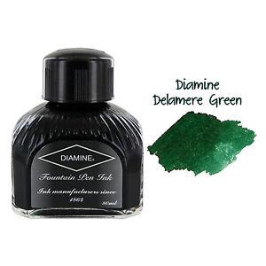 Diamine Fountain Pen Bottled Ink, 80ml - Delamere Green