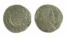 129) Napoli. Filippo II (1554-1598). Mezzo ducato sigla IBR - MIR 160