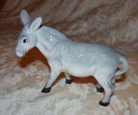 """Vintage Nativity 3 1/2"""" DONKEY Figurine Glossy Porcelain Piece"""