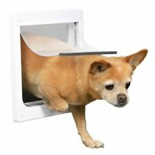TRIXIE 2 Way Big Cat Pet Dog Flap Lockable Door Size XS-S 25x29 cm White 3877