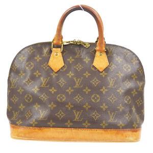 LOUIS VUITTON ALMA HAND BAG PURSE MONOGRAM CANVAS M51130 BA0946 82303