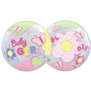 """Baby Girl Clear Patterned Balloon Baby Shower Decoration Plastic Bubble 22"""""""