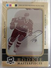 2011 - 2012 UD THE CUP Ryan Johansen AUTO PRINTING (Print) PLATE  ROOKIE RC 1/1